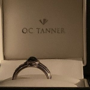 O. C. TANNER VINTAGE 925 SILVER ONYX RING